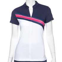 Fairway & Greene: Women's Alexis Zip Mock Polo