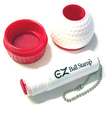 My Ball Stamp: EZ Ball Stamp Golf Ball Identifier - Long Horn Bull Skull Red