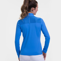 EP NY Golf: Women's Long Sleeve Zip Mock Polo