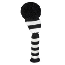 Just 4 Golf: Driver Headcover - Wide Stripe - Black & White