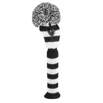 Just 4 Golf: Fairway Headcover - Wide Stripe  Black & White