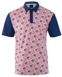 USA, USA, USA Mens Golf Polo Shirt by ReadyGOLF