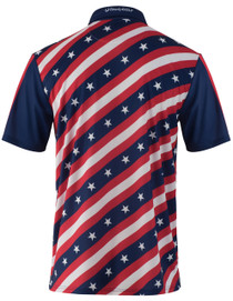 ReadyGOLF Mens Golf Polo Shirt - USA Stars and Bars