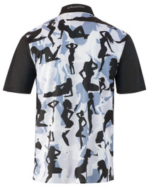 ReadyGOLF Mens Golf Polo Shirt - Naked Lady Camo