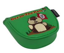 Dancing Gopher Green Embroidered Putter Cover by ReadyGolf - Mallet