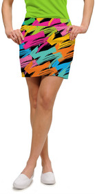 Loudmouth Golf Womens Skort - Broad Strokes StretchTech