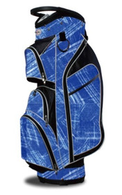 Taboo Fashions: Ladies Monaco Premium Lightweight Cart Bag - Blue Brushstrokes