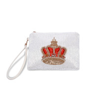 Physician Endorsed: Womens Bag/Clutch - Balmoral Crown - White