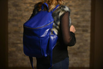 Sassy Caddy: Ladies Day Pack - Cobalt Blue Leather