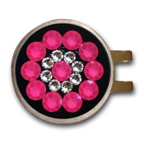 Blingo Ball Markers: Neon Pink on Black