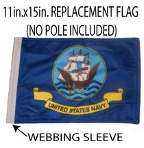 SSP Flags: 11x15 inch Golf Cart Replacement Flag - Navy