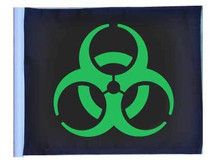 SSP Flags: 11x15 inch Golf Cart Replacement Flag - Biohazard Green