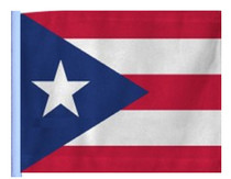 SSP Flags: 11x15 inch Golf Cart Replacement Flag - Puerto Rico