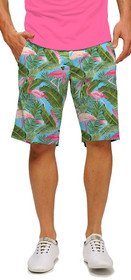 Loudmouth Golf: Men's StretchTech Shorts - Flamingo Garden