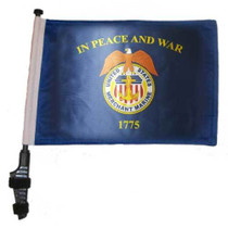 SSP Flags: 11x15 inch Golf Cart Flag with Pole - US Merchant Marine