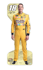 Team Image: Lifesize Cardboard Cutout - Kyle Busch #18 (Yellow)