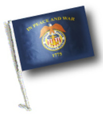 SSP Flags:  Car Flag with Pole - U.S Merchant Marine