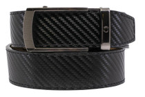Nexbelt: Men's Vetica Carbon Black Golf Belt - Black