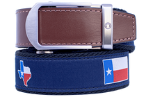 Nexbelt: Men's Hampton Belt - Texas Brown/Blue