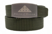 Nexbelt: Specialty - Folds of Honor Aston Canvas Strap Belt - Pewter/Green