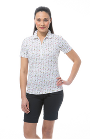 SanSoleil: Ladies UPF 50 SolTek ICE Fitted Short Sleeve Polo - 900615