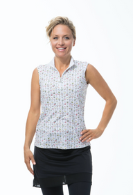 SanSoleil: Ladies UPF 50 SolTek ICE Sleeveless Mock - 900616