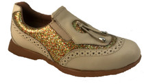 Sandbaggers: Women's Golf Shoes - Madison II Gold Sparkle