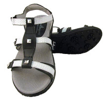 Sandbaggers: Women's Golf Sandals - Cece Black & White