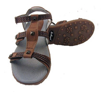 Sandbaggers: Women's Golf Sandals - Cece Brown
