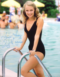 "Cindy Morgan ""Lacey Underall"" Signed 8x10 Caddyshack Color Photo - Pool Side"
