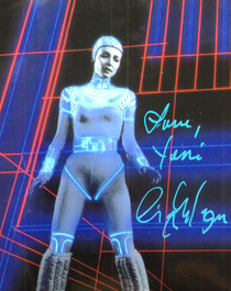 "Cindy Morgan ""Yori"" Signed 8x10 Tron Color Photo"