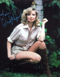Cindy Morgan Signed 8x10 Bring 'Em Back Alive Color Photo v1