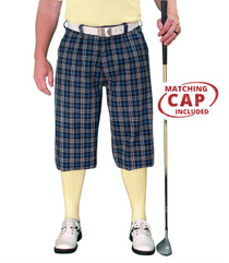 Golf Knickers: Men's 'Par 5' Plaid Golf Knickers & Cap - Galway