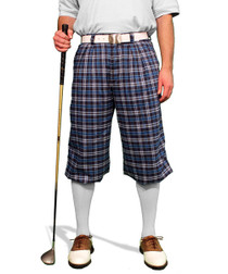 Golf Knickers: Men's 'Par 5' Plaid Golf Knickers - Eaglesham
