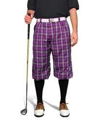 Golf Knickers: Men's 'Par 5' Plaid Golf Knickers - Kingston