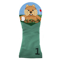 Smathers & Branson: Driver Headcover -  Gopher Golf Needlepoint