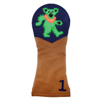 Smathers & Branson: Driver Headcover - Dancing Bear Needlepoint