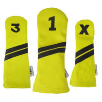 Sunfish: DuraLeather Headcovers Set - Yellow with Black Stripes