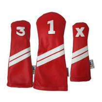Sunfish: DuraLeather Headcovers Set - Red with White Stripes