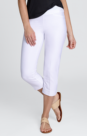 Tail Activewear: Women's Mulligan Capri - White (Size 6) SALE