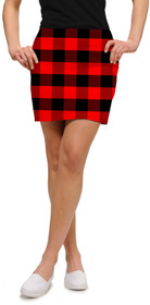 Loudmouth Golf: Womens Skort - Red & Black Lumberjack