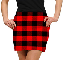 Loudmouth Golf: Womens Skort - Red & Black Lumberjack*