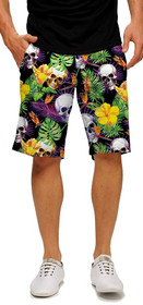 Loudmouth Golf: Men's StretchTech Shorts - Skull Grotto