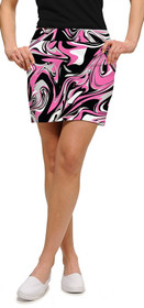 Loudmouth Golf: Women's StretchTech Skort - Pink Marble