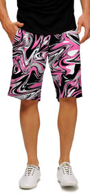 Loudmouth Golf: Men's StretchTech Shorts - Pink Marble