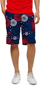Loudmouth Golf: Men's StretchTech Shorts - Fireworks