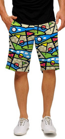 Loudmouth Golf: Men's StretchTech Shorts - Lob Swing Divot