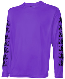 Tattoo Golf: Men's Long Sleeve Undershirt - Purple
