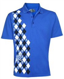 Tattoo Golf: Men's Performance Monster Polo Shirt - Blue (Size 4XL) SALE
