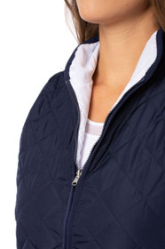 Golftini: Women's Reversible Wind Vest - Navy / White